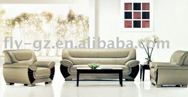 nice leather sofa/office furniture/modern home center sofa - buy