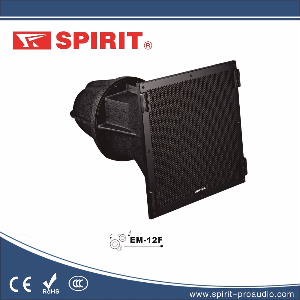 "outdoor water-proof long throw range speaker EM-12F with 1x12""LF and 1x1.75"" HF p audio dj system"