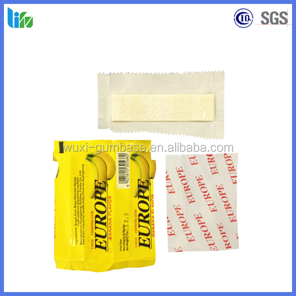 Different fruit flavor 2.6g sheet chewing gum