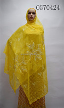 CG70424 wholesale tulle net scarf for ladies good quality soft touch
