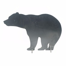 Cute bear animal shape tabletop stand wooden blackboard with stand
