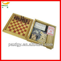manufacturer direct sales wooden game set/wooden game set in box