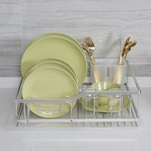 Hot Selling Single Tier Anti-rust Eco-Friendly Aluminum Kitchen Dish Rack