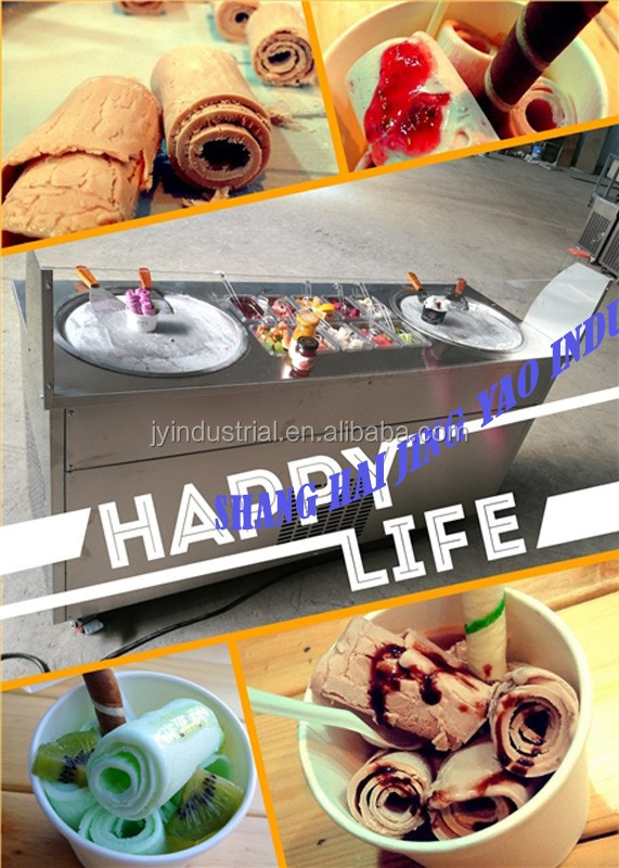 2017 popular China Factory Supply New products Thailand Fry Ice Cream Machine, Fried Ice Cream Roll Machine