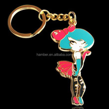 Souvenir customized metallic keyring