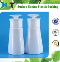 New design 300ml PET plastic bottle with nail pump / 300ml plastic bottle with pump dispenser
