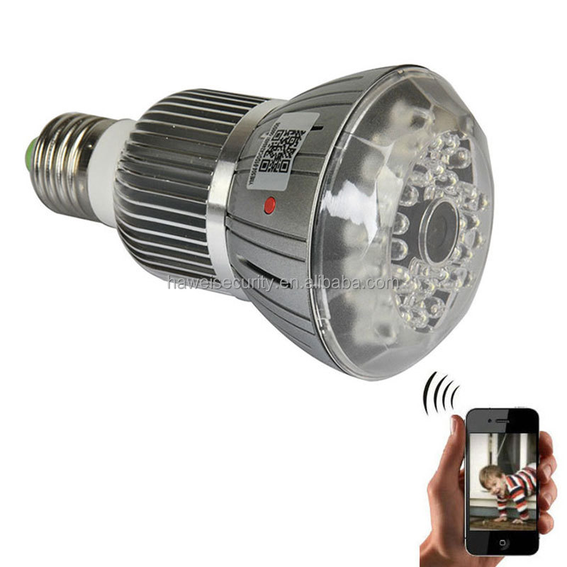 Night vision hd1080p <strong>wifi</strong> hidden light bulb camera for home security