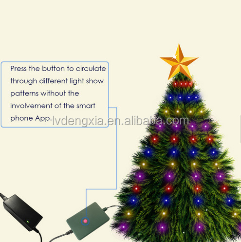 98leds Phone APP Wifi Control <strong>Indoor</strong> <strong> - Wholesale Christmas Tree Lights Indoor - Online Buy Best Christmas
