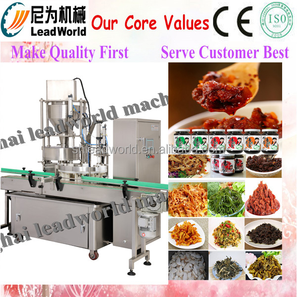 2016 new model Automatic stainless steel shredded kelp filling machine