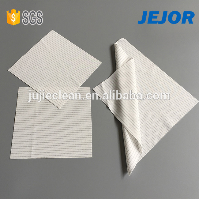dustless For electronics industry use 100% Polyester ESD Cleanroom Wiper