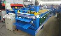Two layer tile effect steel roofing sheets roll forming machine