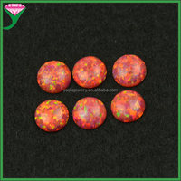 OP25 alizarin crimson wholesale price per gram flat round cabochon rough ethiopian welo fire opal prices