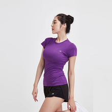 2018 fashion women gym wear fitness sports t shirt lady yoga shirt