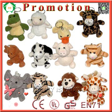 Amazing cute small doll of mini stuffed animal heads key chain and mini money bag for sale