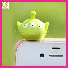 Funny Earphone jack Dust Protector Silicone Custom Earphone Jack Plug for iPhone5 iPad Mini anti dust plug
