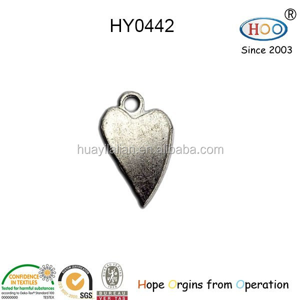 zhejiang zipper puller/heart zipper puller