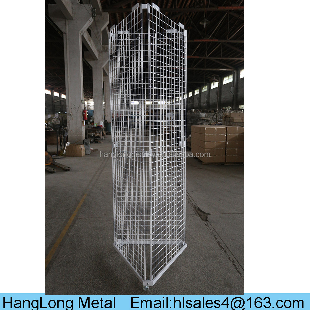 wire grid mesh metal folding display stand for ceramic mosaic HL001
