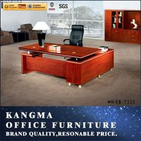 Office furniture guangzhou executive table desk|zebra wood executive desk commercial furniture