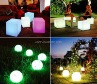plastic rechageabl led light/bar furniture decoration lighting