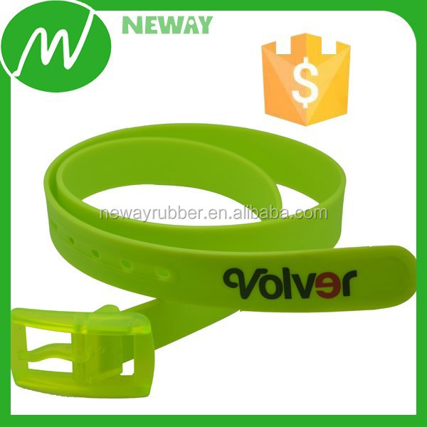 Unisex Fashion Colorful Silicone Belt