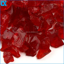 China Wholesale Red Colored Crushed Glass
