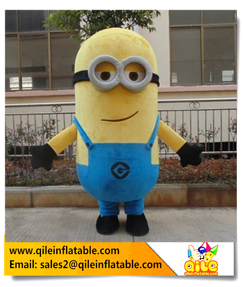 Factory Hot sale soft despicable me minion mascot costume cute cartoon for adult wear kid anime cosplay