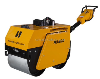 double drum walk behind self-propelled soil compactor roller, road roller compactor