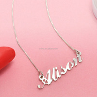 Thin Gold Chain Necklace Designs Name Necklace,Plated Gold Classic Name Necklace