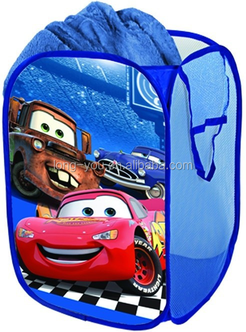 Cute cartoon Cars2 polyester laundry bag Pop up laundry bag