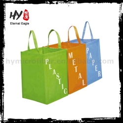 Customized deign pp woven shopping bag, reusable eco nonwoven bag, non-woven shopping bag