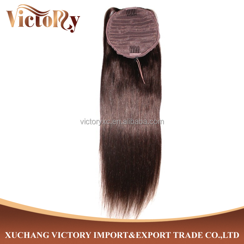Remy Hair Extension Indian Remy Wrap Around Ponytail Remy Human Hair
