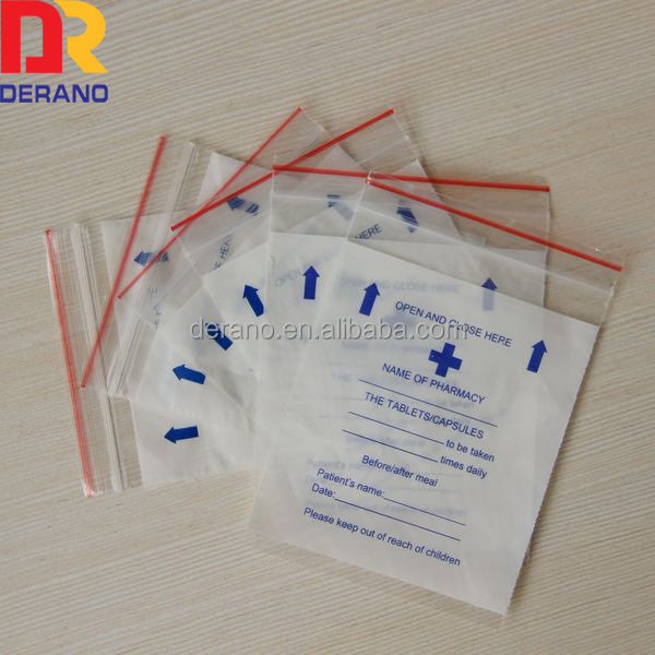 printing resealable bag for medicine ldpe zipper bag for mother day gifts