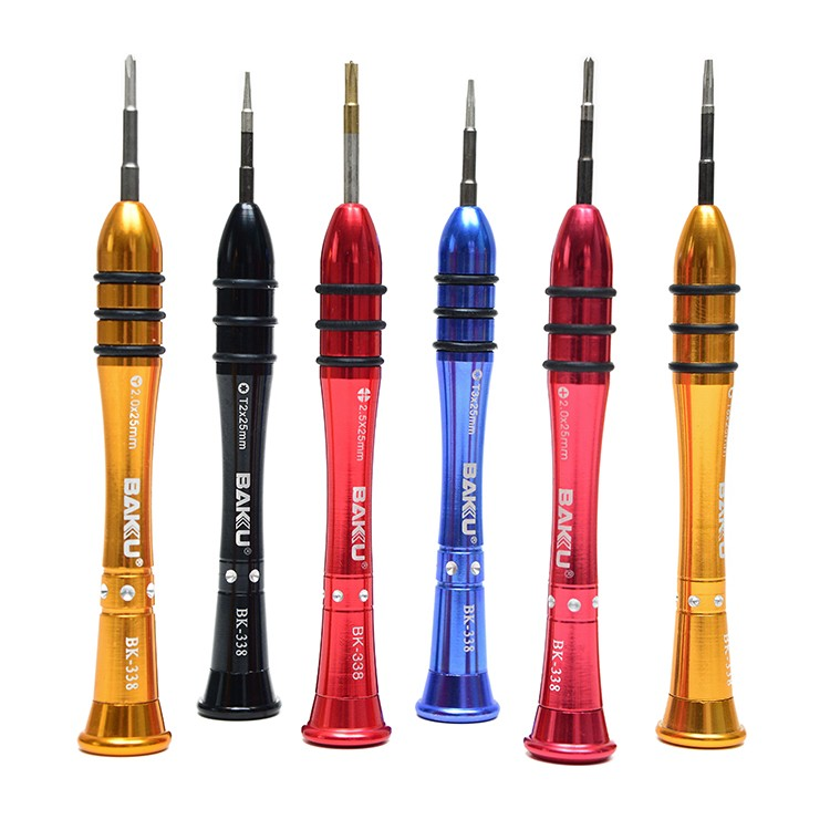 1 Guy 1 Phillips Screwdriver BAKU Tools Trox Mini Screwdriver BK-338 Wireless Cell Phone Repair Triangle Screwdriver