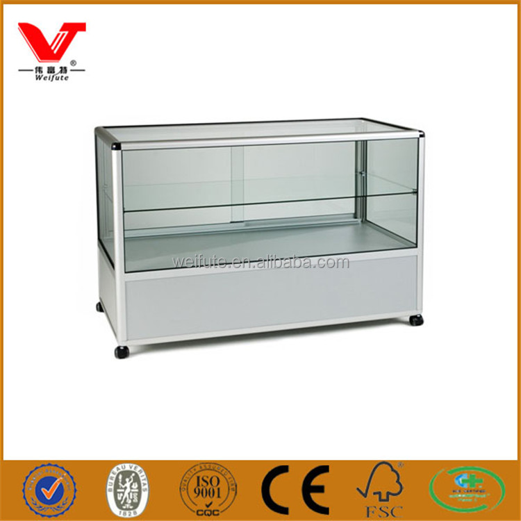 High end quality glass display counter for mobile phone shop display and fixing accessories