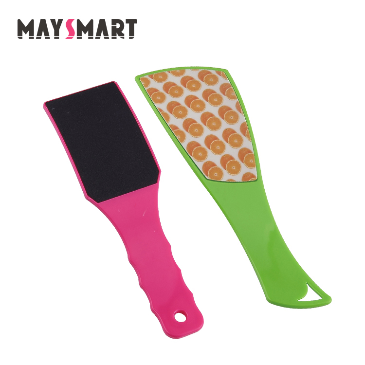 Wholesale Professional Plastic Double Sided Girl Pedicure Foot File With Logo