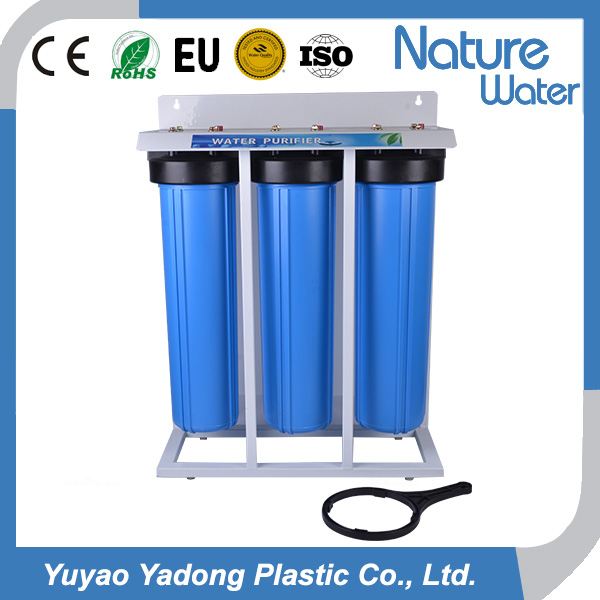 Triple stage water filter 20inch Jumbo Big blue housing with stand