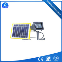 Inserting Ground Lawn/Garden Lighting 10W Solar LED Rechargeable Flood Light High Waterproof IP65With RF Remote Control