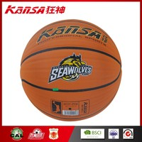 Kansa-1016 Indoor&Outdoor Use Economical Rubber Made In Official Size High Quality Basketball Ball