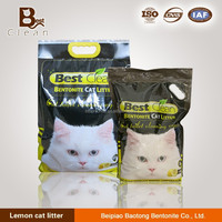Strong Caking bentonite kitty sand with Lemon odor