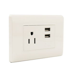 Hot sales South America standard ABS+Copper material 3 hole 2 USB electrical wall switch socket
