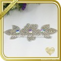 Elegant flower AB crystal rhinestone bridal sash appliques for dance costumes FRA-091