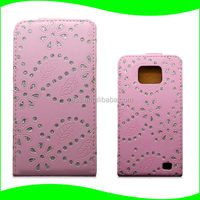 Phone Accessory Korea Bling Bling PC Hard Mobile Phone Case for Samsung Galaxy S2 Leather Case