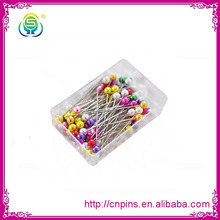 Yongsheng high quality assorted colours glass head pin