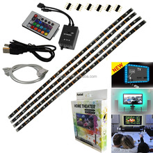 LED Strips Bias Backlight RGB Lights with Remote Control for HDTV, Flat Screen TV Accessories and Desktop PC