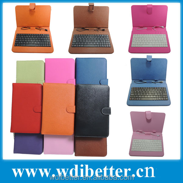 7 inch Universal Tablet Keyboard Cover Case For SVP 7inch Phablet