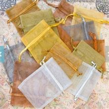 gold Organza Bags 4x6 inch with draw string