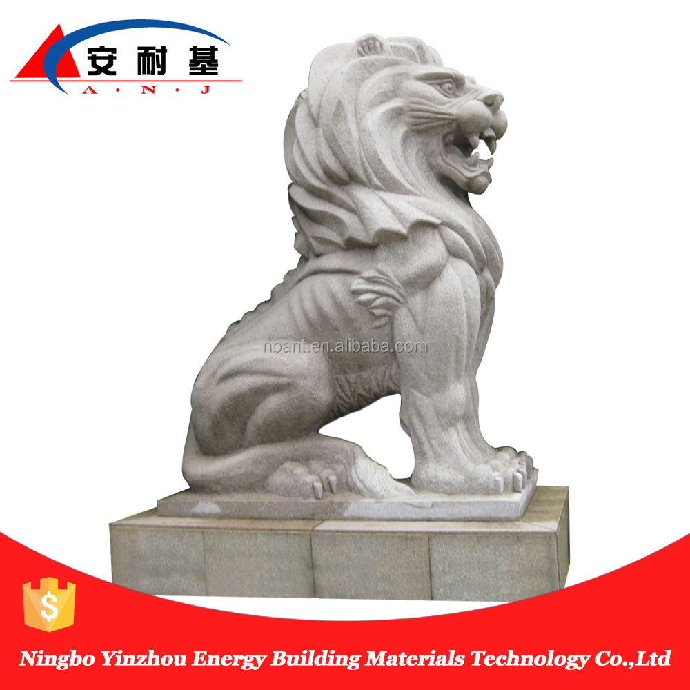 granite stone hand carving lion animal statue