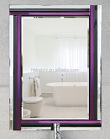 Waterproof frameless beveled wall mirror with cheap price