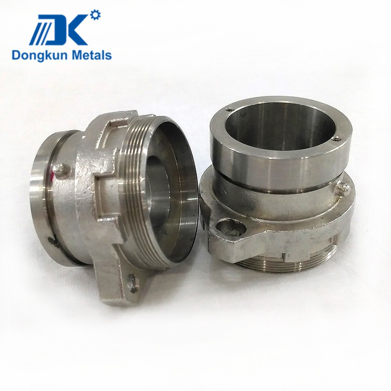 customized 304 stainless steel cnc machining pipe fitting connector