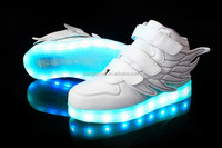 China factory children's safety shoes 7 color changing led light shoes kids